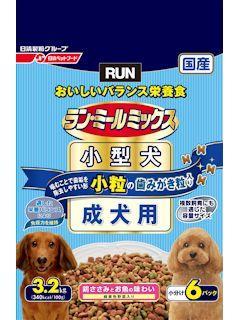 日清ペットフード ラン・ミールミックス 小型犬 成犬用 小粒のはみがき粒入 3.2kg