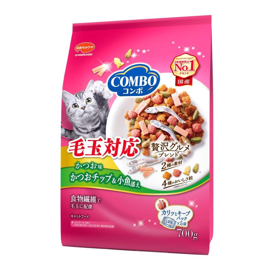 ミオコンボ 毛玉対応 かつお味かつおチップ・小魚添え 700g