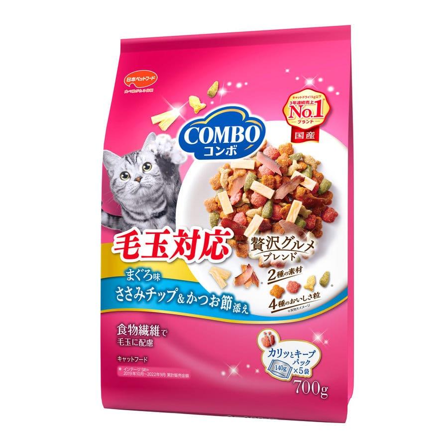 ミオコンボ 毛玉対応 まぐろ味・ささみチップ・かつおぶし添え 700g