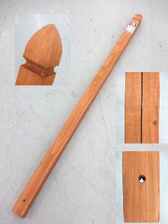ラティス用柱 60mm角×150cm ブラウン KB6