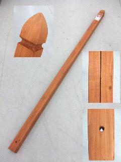 ラティス用柱 60mm角×180cm ブラウン KB6