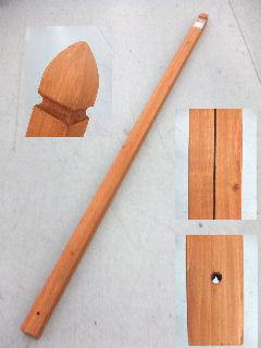 ラティス用柱 60mm角×210cm ブラウン KB6