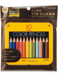 トンボ ミニ色鉛筆 12色NQ削り付き