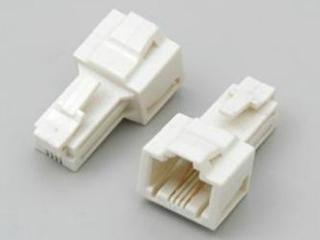 8極8芯→6極2芯(LAN→TEL)交換アダプタ TEA-076