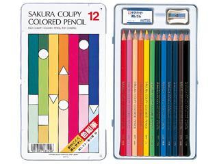 サクラクレパス クーピー色鉛筆 12色
