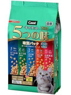 【クリックで詳細表示】キャラット・5つの味 海の幸 高齢猫用 1.2kg