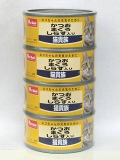 Petami 猫貴族 かつおまぐろしらす入り 170g×4缶パック