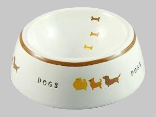 犬用陶器食器 犬の行進 S DC-196