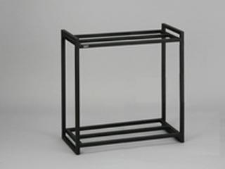 GEX スチール製水槽台 2段 60cm水槽用 ブラック