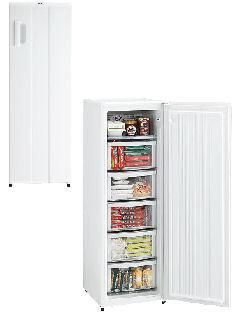 【クリックで詳細表示】ハイアール 166L ファン式 前開き型冷凍庫 JF-NUF166A(W) ホワイト