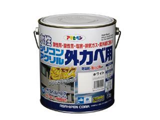 水性シリコンアクリル外カベ用 3kg ホワイト