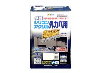 水性シリコンアクリル外カベ用 16kg ホワイト