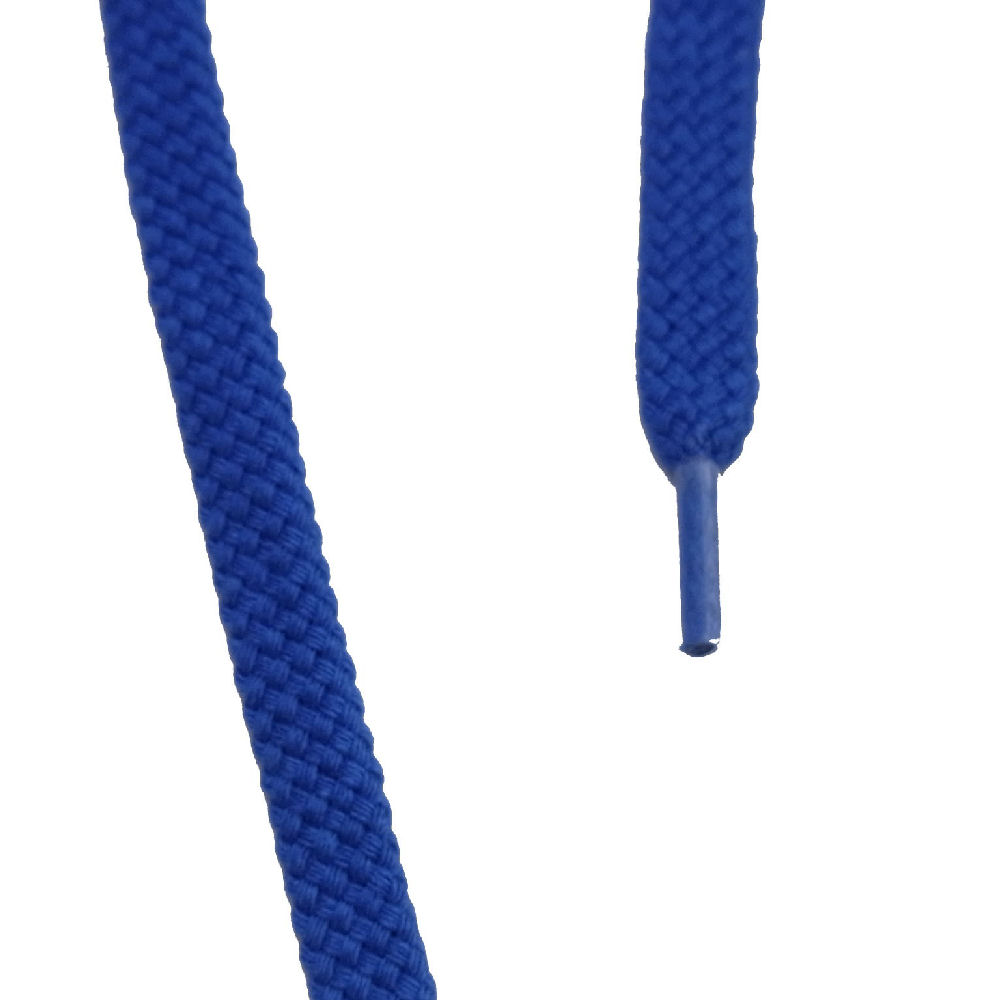 シューレス 平細 120cm ブルー
