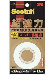 3M スコッチ 超強力両面テープ プレミアゴールド25mm スーパー KPS-25