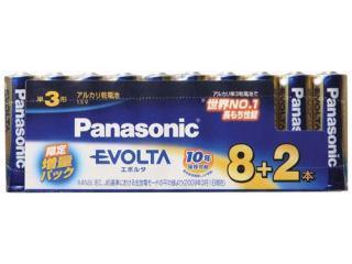 パナソニック エボルタ 単3 8本+2本パック LR6EJP/10S