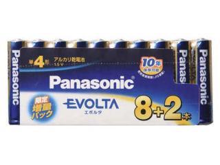 パナソニック エボルタ 単4 8本+2本パック LR03EJP/10S