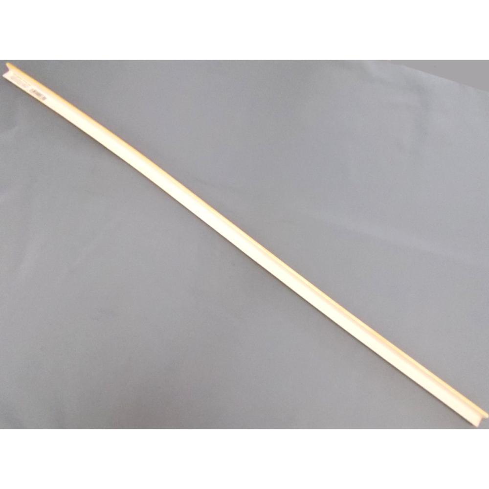 クッションL字型 細 90cm 木目ライト