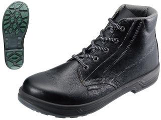 シモン JIS規格牛革安全中編上靴 SX3層底 SS22黒 各種