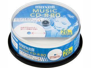 マクセル 音楽用 CD-R 80分 ホワイトレーベル 20枚入