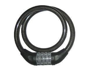 可変式ダイヤル錠 ブラック 12Φ×650mm
