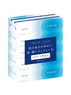 エリエール+Water(プラスウォーター) 180組×5個パック