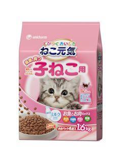 ねこ元気 健康に育つ子猫用 お魚とお肉ミックス 1.6kg