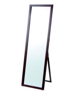 ワイド木製スタンドミラー 45×155 突き板 ブラウン