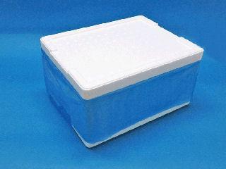 発泡箱 内袋(ブルー)付 Ti-165(4) 350×265×170 15.7L
