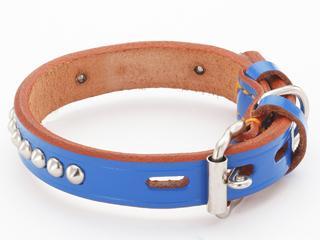 ペティオ BL手縫平首輪中一 30mm ブルー