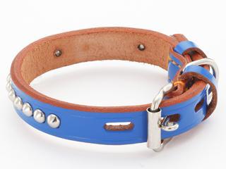 ペティオ BL手縫平首輪中一 36mm ブルー