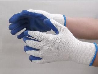 ゴム引き手袋 ブルー 5双組