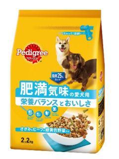 マースジャパン ペディグリー 肥満気味の愛犬用 ささみ&ビーフ&緑黄色野菜 2.2kg