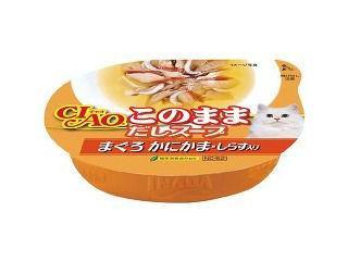 いなば CIAO(チャオ) このままだしスープカップ まぐろ かにかま・しらす入り 60g