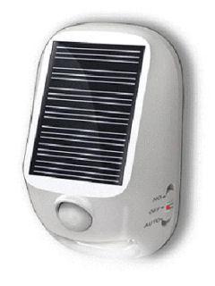 ヤザワ 屋外用 ソーラー式 LEDセンサーライト NL57WH