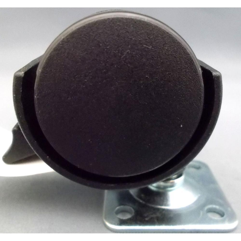 双輪キャスターストッパー付 黒40mm