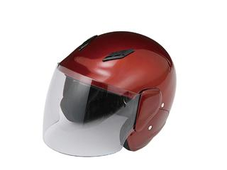 ファミリージェットヘルメット PS-FJ001 キャンディレッド