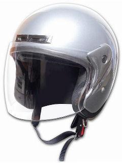 オープンフェイスヘルメット PS-OF001 シルバー