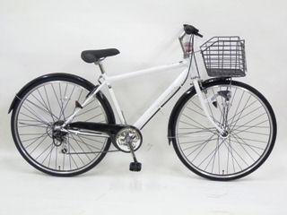 【クリックでお店のこの商品のページへ】アレグレスクロス 27インチ 外装6段オートライト自転車 ホワイト