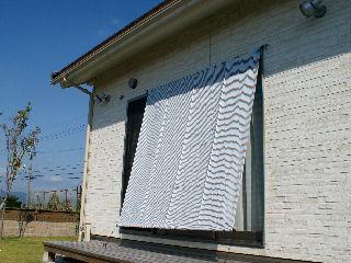 日よけシート 吊下げ クールホワイト 幅1m