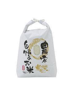新袋米袋 5kg 舟底 (白・窓付き)
