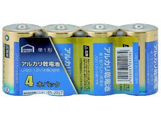 コメリセレクト アルカリ乾電池 単1形 4本パック