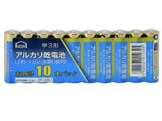 コメリセレクト アルカリ乾電池 単3形 10本パック
