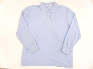 婦人鹿の子ポロシャツ サックス M 1100