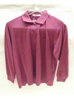 婦人鹿の子ポロシャツ ワイン Mサイズ 1100