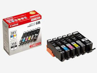 キヤノン 純正インクカートリッジ BCI-351/350 6色パック 大容量 BCI-351XL+350XL/6MP