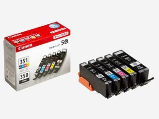 キヤノン 純正インクカートリッジ BCI-351/350 5色パック BCI-351+350/5MP