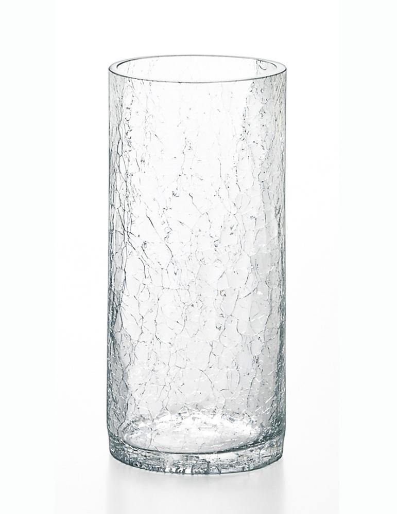 ガラス花瓶 ヒビ割れチューブベースS H1166
