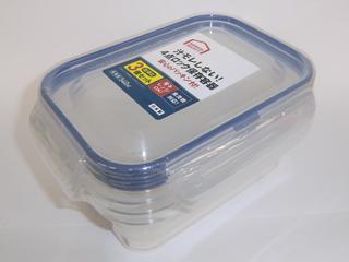 コメリセレクト 4点ロック保存容器 540ml 3個セット