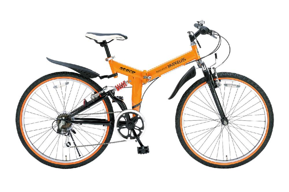 折たたみATB26インチ 6段ギア Wサス M 670 OR オレンジ (お客様組立商品)