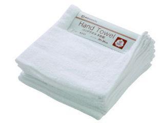 ハンドタオル 8枚組 34×34cm ホワイト